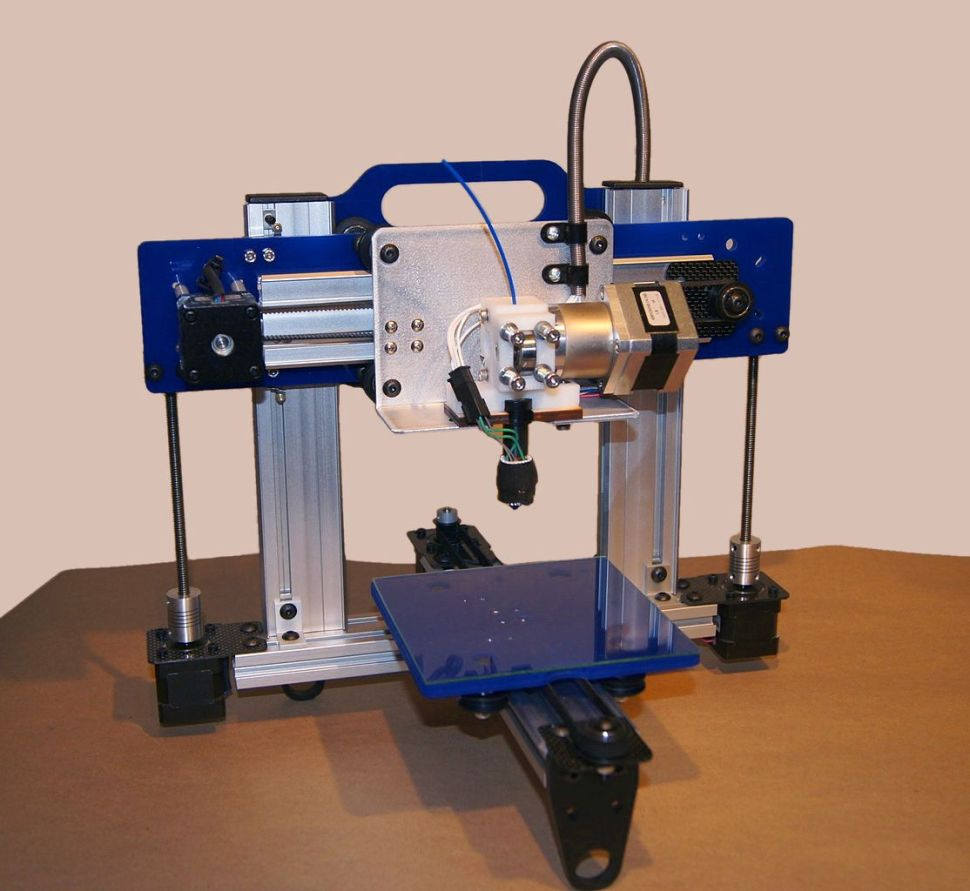 It's just me and you, kid. The ORDbot Quantum 3D printer. Photo: Creative Commons/Bart Dring