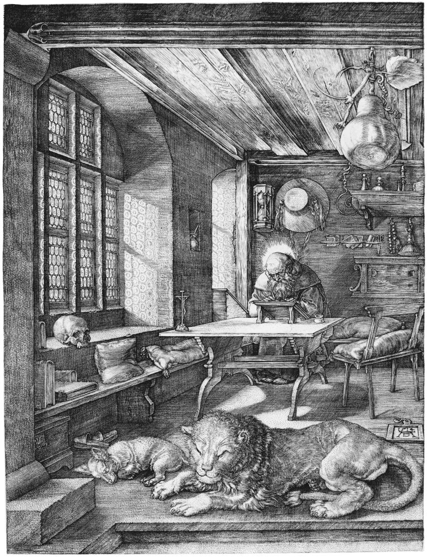 Albrecht Dürer's Saint Jerome in His Study