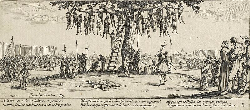 The Hanging by Jacques Callot